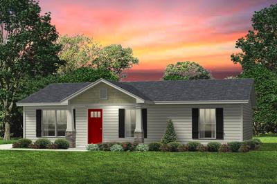 Red Door Homes -  The Aspen Craftsman Elevation