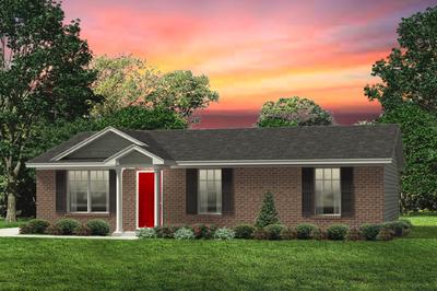 Red Door Homes -  The Aspen Brick Elevation