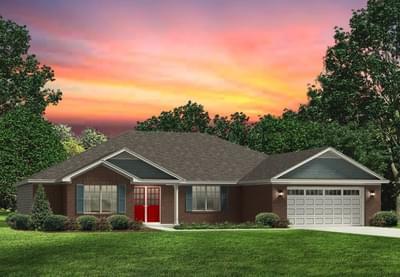 Red Door Homes -  The Brunswick Brick Elevation