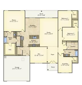 Red Door Homes -  The Brunswick First Floor