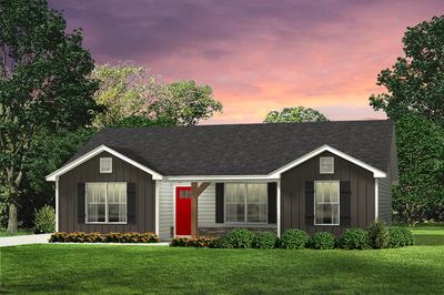 Red Door Homes -  The Newport Craftsman Elevation