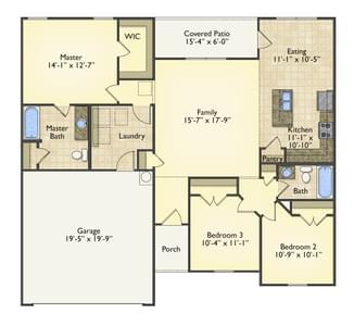 Red Door Homes -  The Norfolk First Floor