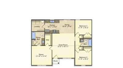 Red Door Homes -  The Newport First Floor