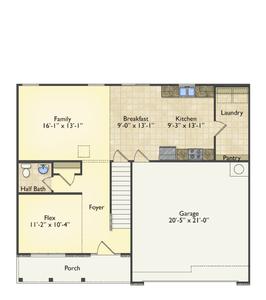 Red Door Homes -  The Westover First Floor