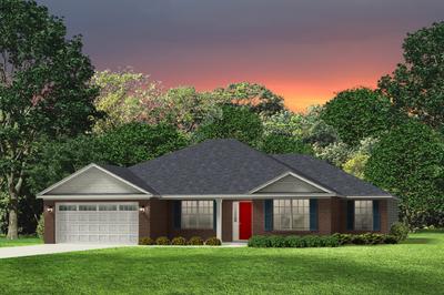 Red Door Homes -  The Lexington Brick Elevation