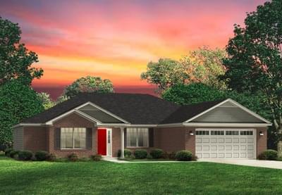 Red Door Homes -  The Richfield Brick Elevation
