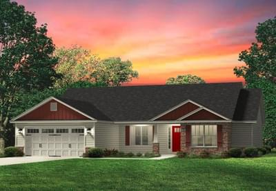 Red Door Homes -  The Richfield Craftsman Elevation