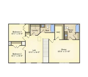 Red Door Homes -  The Spartanburg Second Floor