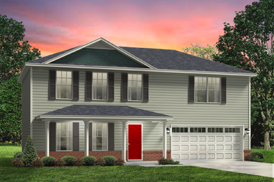 Red Door Homes -  The Spartanburg Brick Elevation