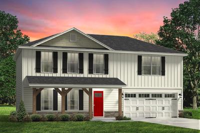 Red Door Homes -  The Spartanburg Craftsman Elevation