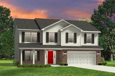 Red Door Homes -  The Westover Brick Elevation