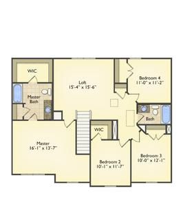 Red Door Homes -  The Westover Second Floor
