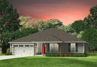 Red Door Homes -  The Hanover Craftsman Elevation